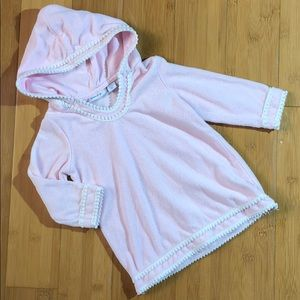 greendog hooded terry pull-over coverup pink 12M